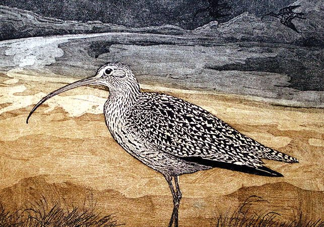 Annie Day, Time to Go, 2017, lithograph and etching